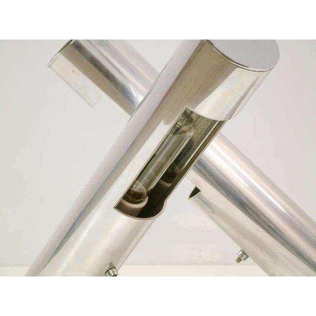 1970 Mid-Century Paul Mayen for Habitat Inc Polished Aluminum Lamps - A Pair For Sale - Image 5 of 11