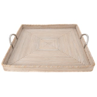 Artifacts Rattan Saboga Collection Square Tray For Sale