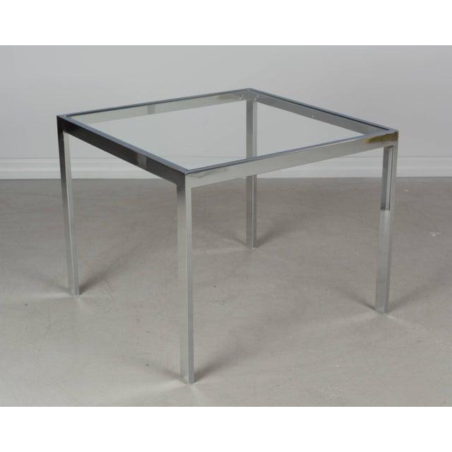 Milo Baughman Milo Baughman Chrome End Table For Sale - Image 4 of 5