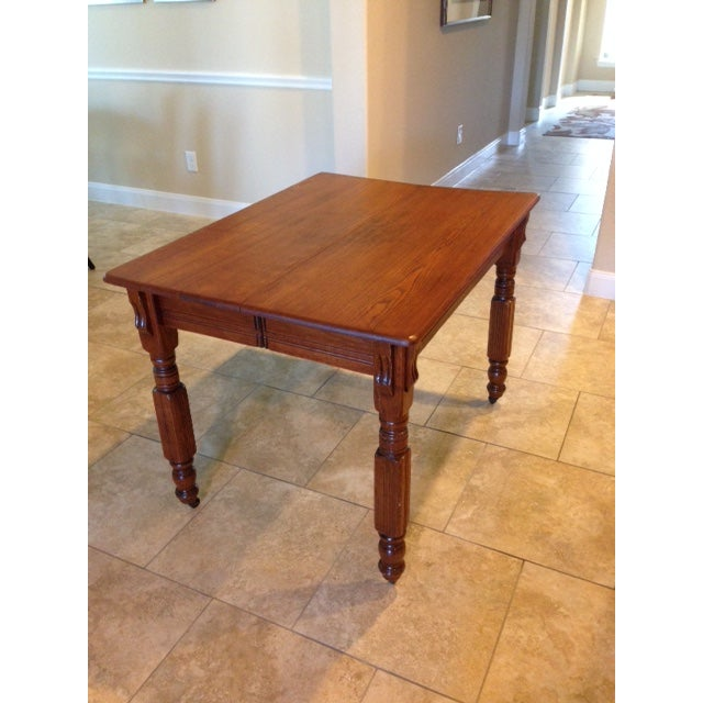 Antique 1900s Solid Wood Dining Table - Image 2 of 6