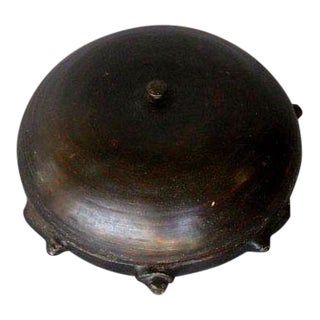 Lacquered Bamboo Turtle Shaped Offering Bowl, Central Myanmar C. 1910 For Sale