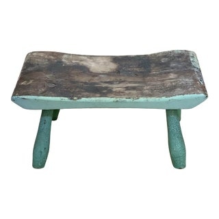 1880s Hand Carved Diminutive Footstool For Sale