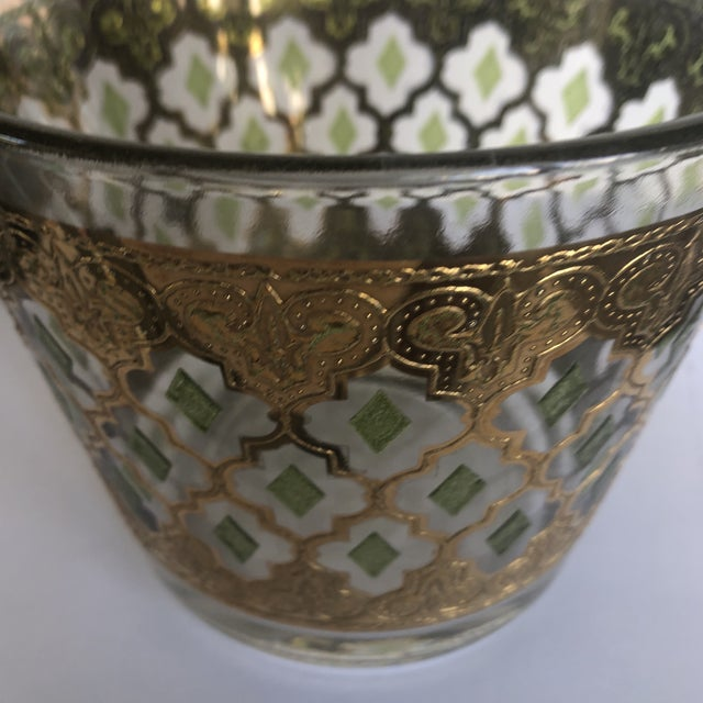 1970s Vintage Culver Valencia Glass Ice Bucket For Sale In Miami - Image 6 of 7