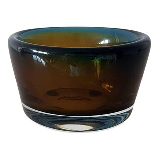 Mid-Century Vicke Lindstrand for Kosta Boda Sweden Art Glass Bowl