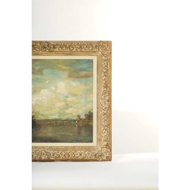 Impressionist 19th Century Oil on Canvas, Listed Artist Landscape For Sale - Image 3 of 4
