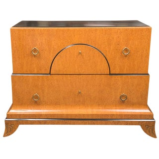 Biedermeier Style Chest with Black Granite Top For Sale