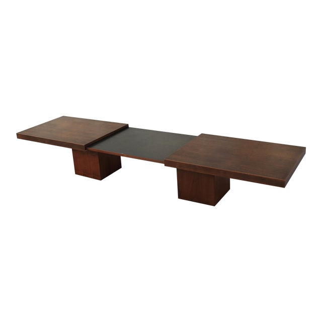 John Keal Style Expanding Coffee Table For Brown Saltman Chairish - Expanding conference table