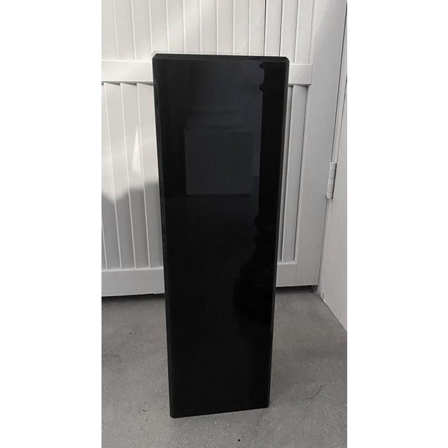 """Vintage Pedestal Black Lucite 26.5"""" High For Sale - Image 10 of 12"""