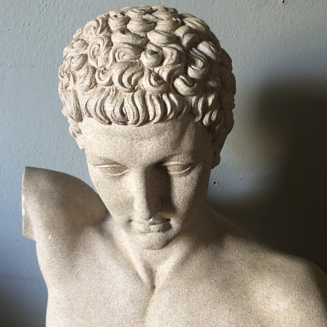 French Vintage Male Bust Sculpture For Sale - Image 3 of 12