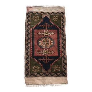 "Hand Made Vintage Nomadic Boho Style Turkish Mat Rug 1'8""x2'11"" For Sale"