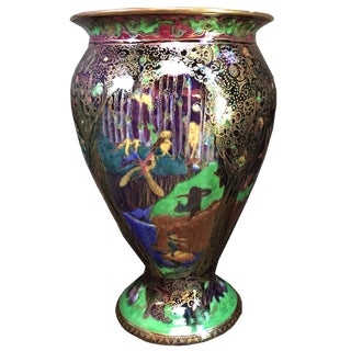 English Wedgwood Art Deco Fairyland Lustre Vase For Sale