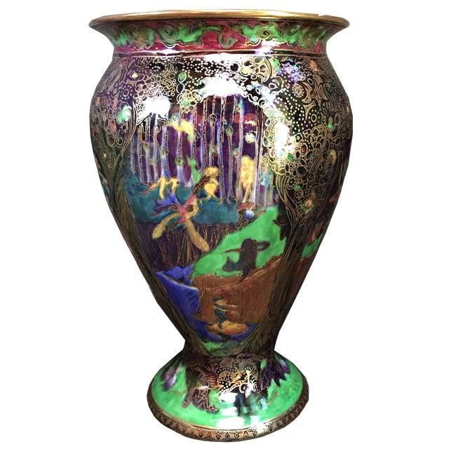 Superior English Wedgwood Art Deco Fairyland Lustre Vase Decaso