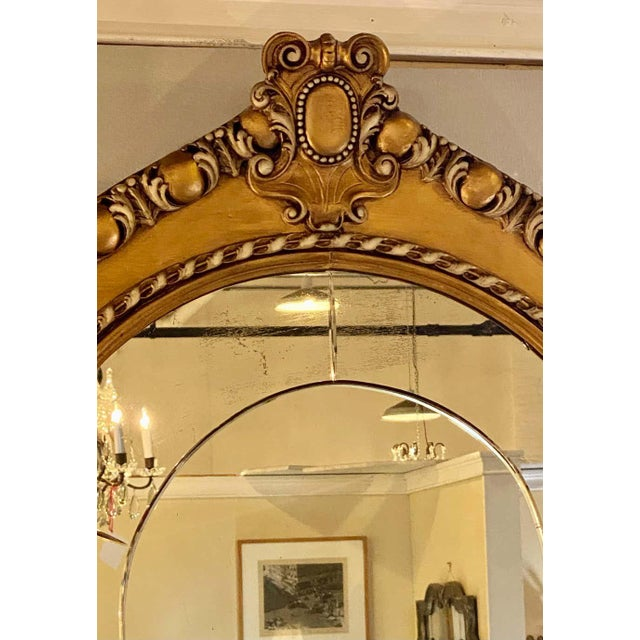 Pair of Neoclassical Wall or Console Mirrors, Giltwood Carved For Sale - Image 12 of 13