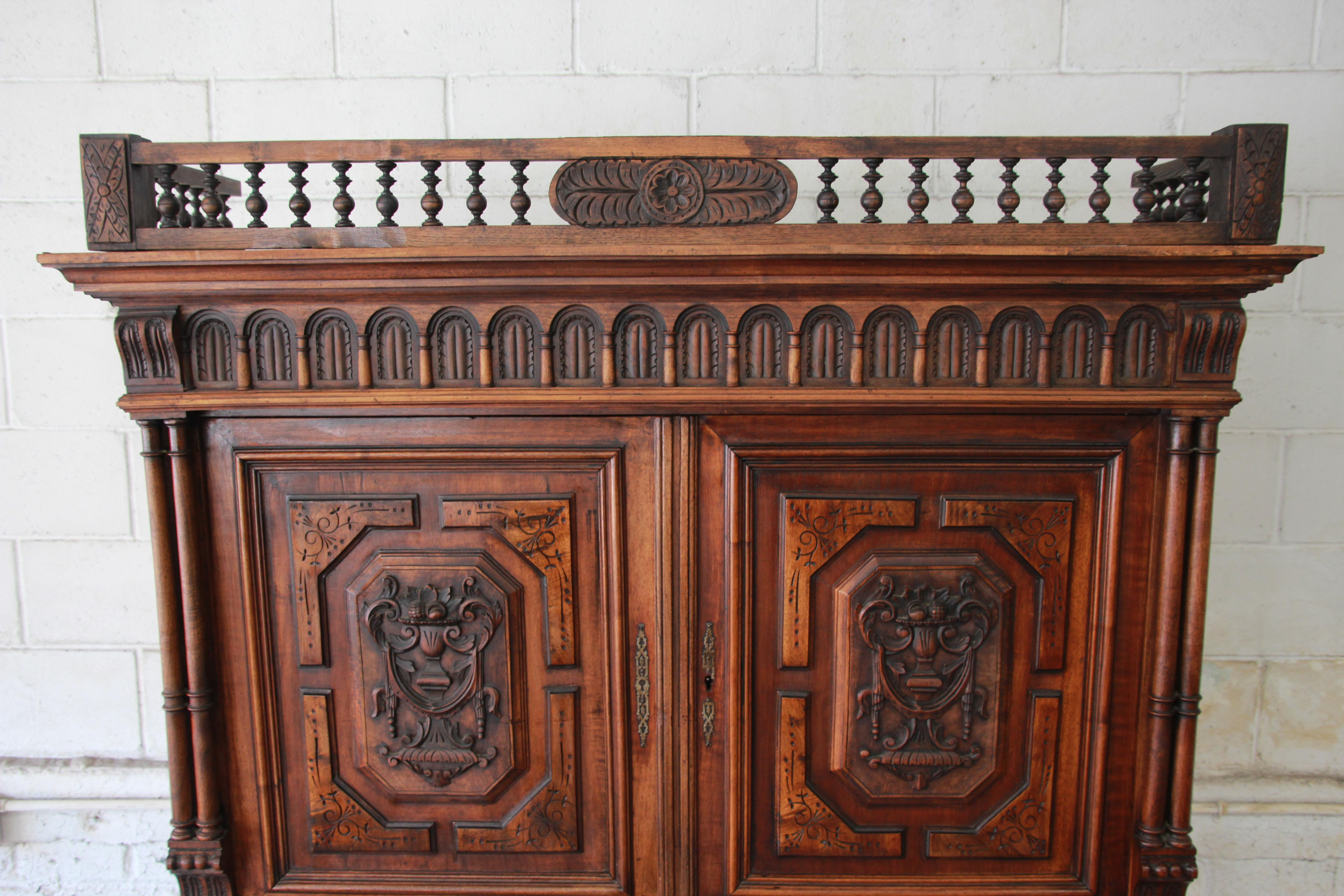 Super Exceptional 19th Century Ornately Carved French Renaissance Henri &FR_27