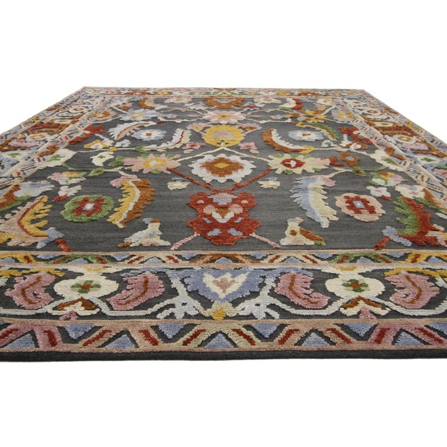 Abstract Geometric Modern and Contemporary High-Low Area Rug - 10′9″ × 13′8″ For Sale - Image 3 of 7