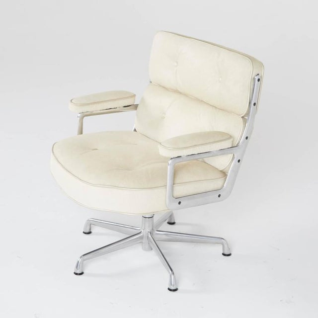 Herman Miller Hair-On Hide Time Life Lobby Chairs by Eames for Herman Miller For Sale - Image 4 of 8