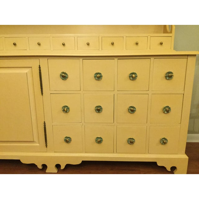 """Vintage Farmhouse """"Breakfront', """"Open Hutch Sideboard' For Sale - Image 12 of 13"""