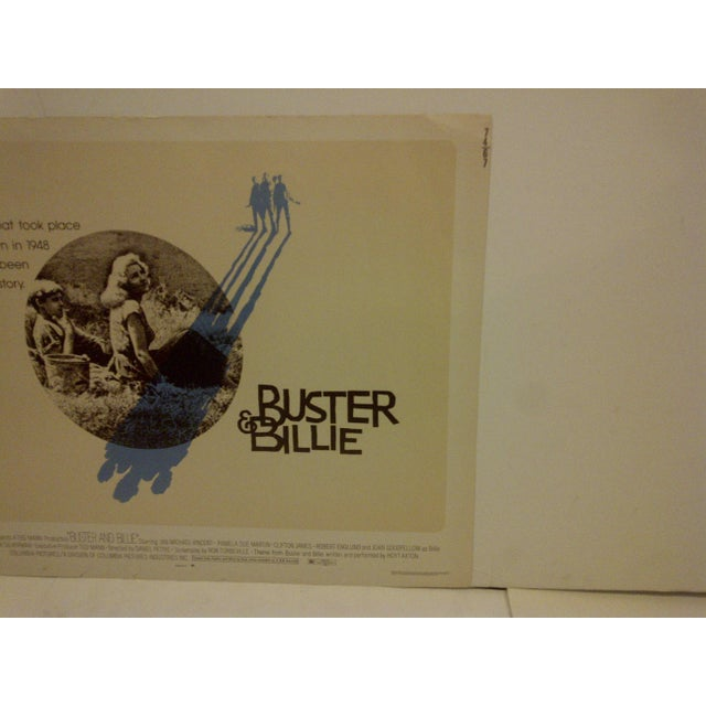 """Buster & Billie"" Vintage Movie Poster 1974 For Sale - Image 4 of 5"