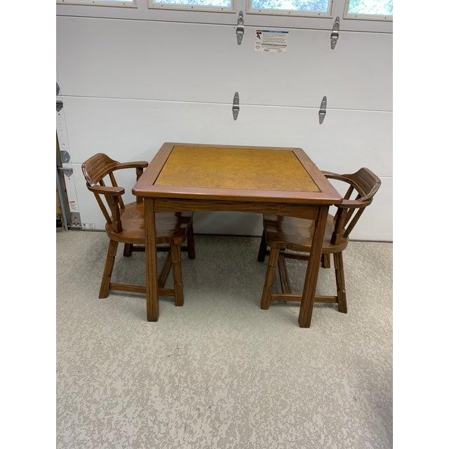 A. Brandt Ranch Oak Furniture Vintage Brandt Ranch Ranch Oak Gaming Table For Sale - Image 4 of 8