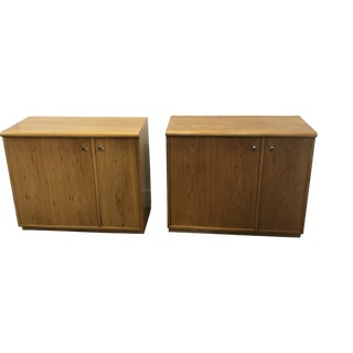 1970's Vintage Mid Century Thomasville Cabinets-a Pair For Sale