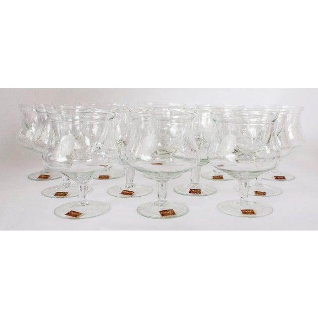 Avitra Handmade Crystal Shrimp Cocktail Glasses & Inserts - Set of 12 - Image 2 of 6