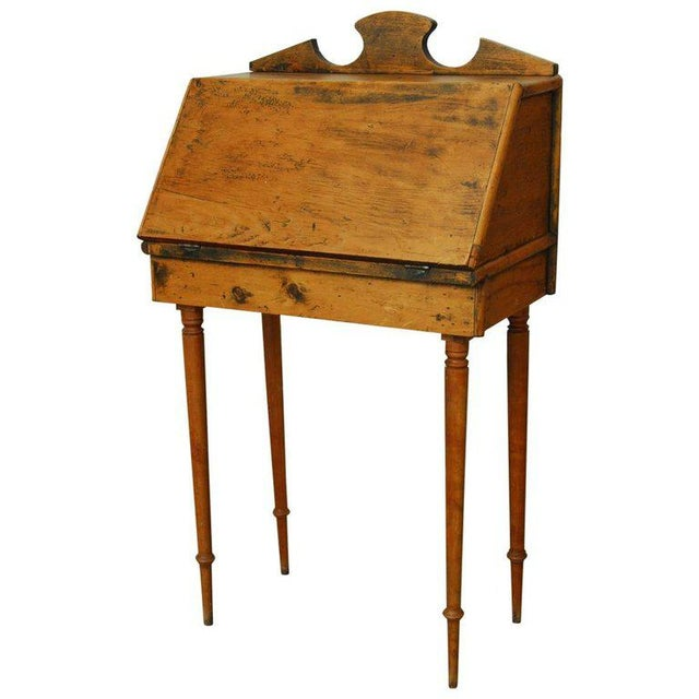 19th Century Diminutive Pine Slant Front Desk For Sale - Image 11 of 11