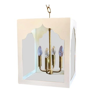 Coleen and Company White Jardena Lantern For Sale