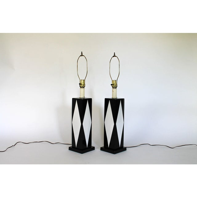 Pair of Mid-Century Ceramic Table Lamps - Image 3 of 8