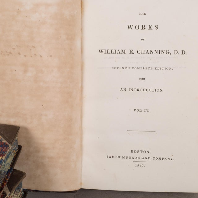 "Mid 19th Century Leather Bound William Channing's ""Works and Memoirs"" Pub. 1841-1847 For Sale - Image 5 of 10"