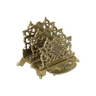 Brass Ornate Letter Holder