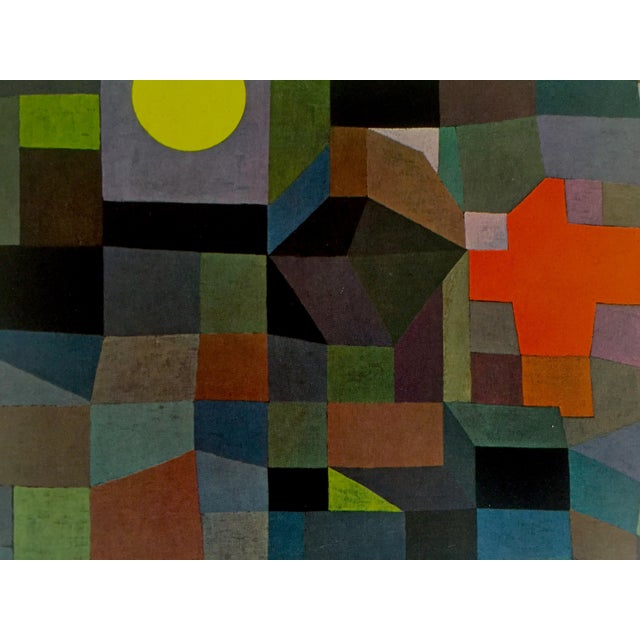 """Paul Klee Vintage 1967 Original Lithograph Print """"Fire at Full Moon"""", 1933 - Image 4 of 7"""
