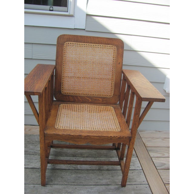 Arts & Crafts Early 20th Century Vintage David Walcott Kendall Craftsman Kendall Chair For Sale - Image 3 of 12