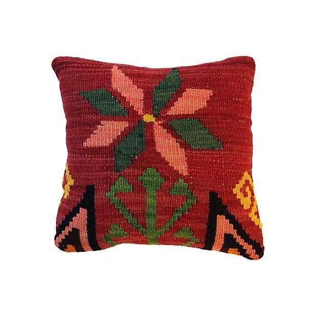 Floral Kilim Fragment Pillow - Image 1 of 4