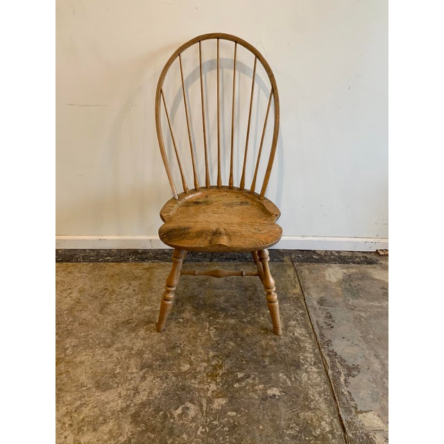 Early 20th Century Early 20th Century American Antique Oak Windsor Side Chair For Sale - Image 5 of 5