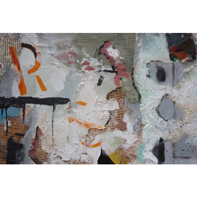 Ralph De Burgos Mixed-Media Abstract Collage For Sale - Image 10 of 12