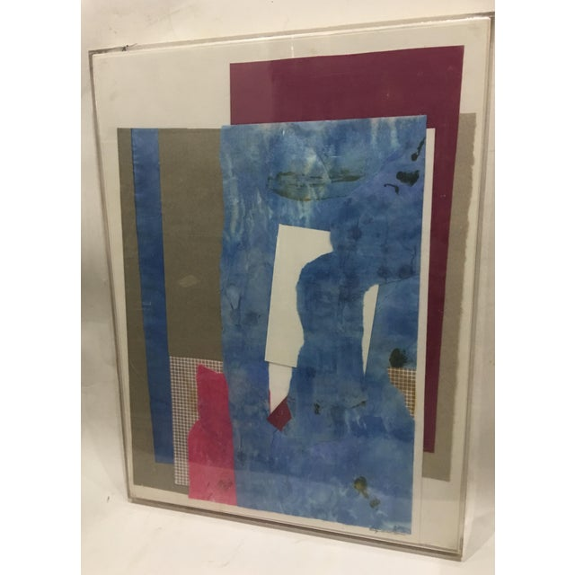 1983 Abstract Collage Signed Mitzi Levin For Sale - Image 4 of 10