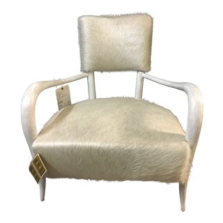 Modern White Cowhide Elka Chair For Sale