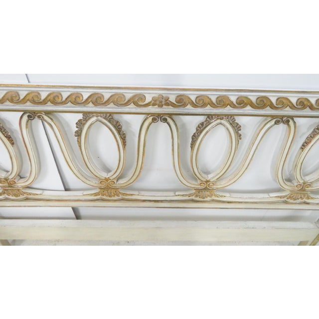 Italian Carved Cream King Headboard For Sale - Image 4 of 11