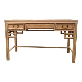 Vintage Ficks Reed Bamboo Writing Desk For Sale