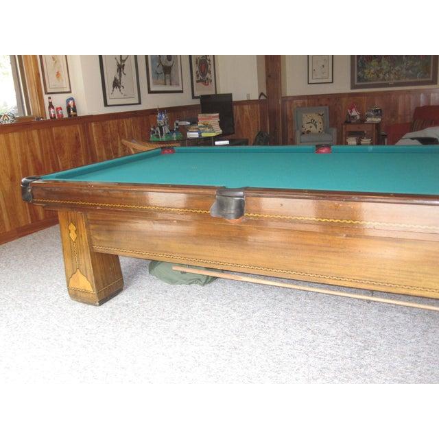 Vintage Brunswick Balke Collender Co Monarch Cushions Pool Table - Brunswick monarch pool table