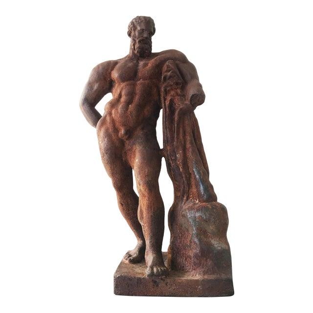 Italian Serpentine Figure of the Farnese Hercules For Sale
