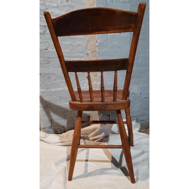 1825 Spindle Back Windsor Chair For Sale - Image 4 of 11