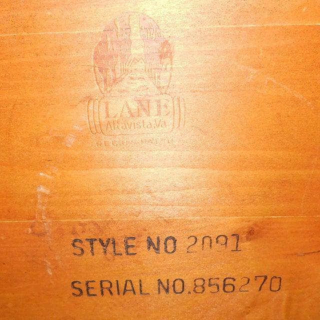 American Modern Lane Furniture Walnut Dining Room Sideboard Credenza Circa 1970's - Image 11 of 11