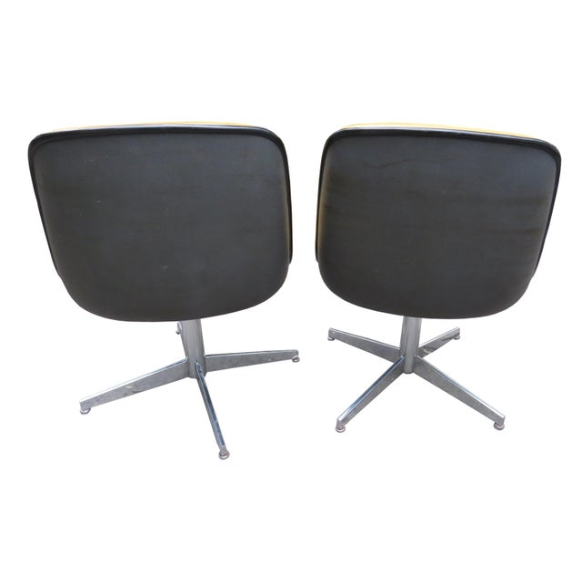 Late 20th Century Vintage Steelcase Swivel Chairs - A Pair For Sale - Image 5 of 13