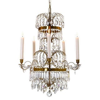 Swedish Chandelier - Gustavian Chandelier Gustaf, For Sale
