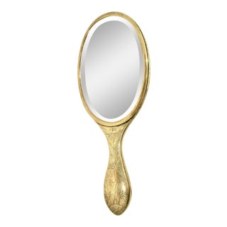 1920s Vintage Chinese Sterling Silver Hand Mirror For Sale