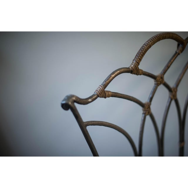 Wrought Iron Ball-and-Claw Chair - Image 9 of 11