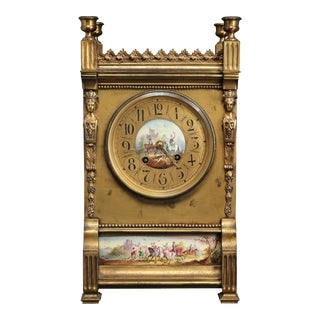 French Neoclassical Mantel Clock For Sale