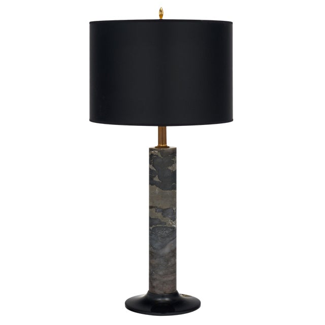 French Modernist Marble Table Lamp For Sale
