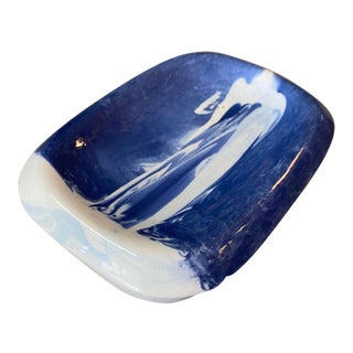 Vintage Blue & White Soap Dish For Sale